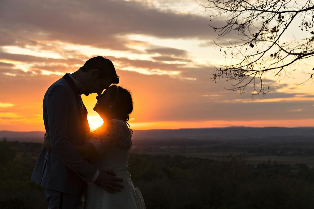 marié au couché du soleil à saint martin de Laives alain Dumoux photographe
